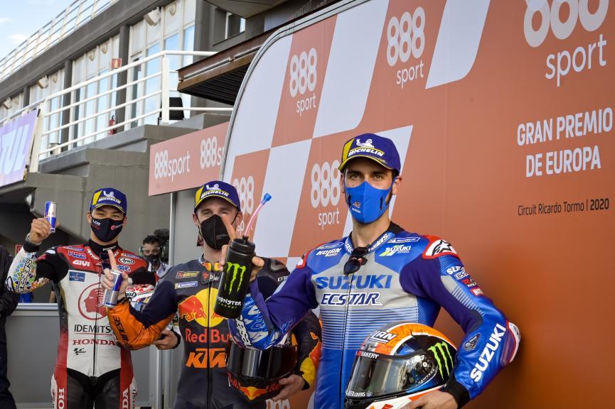 Pol Espargaro, Takaaki Nakagami, Alex Rins, Gran Premio de Europa