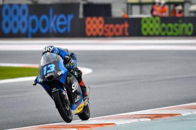 Moto3™, Vietti è il più veloce sul bagnato