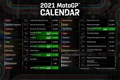 Calendrier 2021 Motogp Provisional 2021 MotoGP™ calendar revealed | MotoGP™