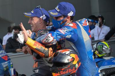 UNSEEN: Suzuki and Brivio's ecstatic Sunday
