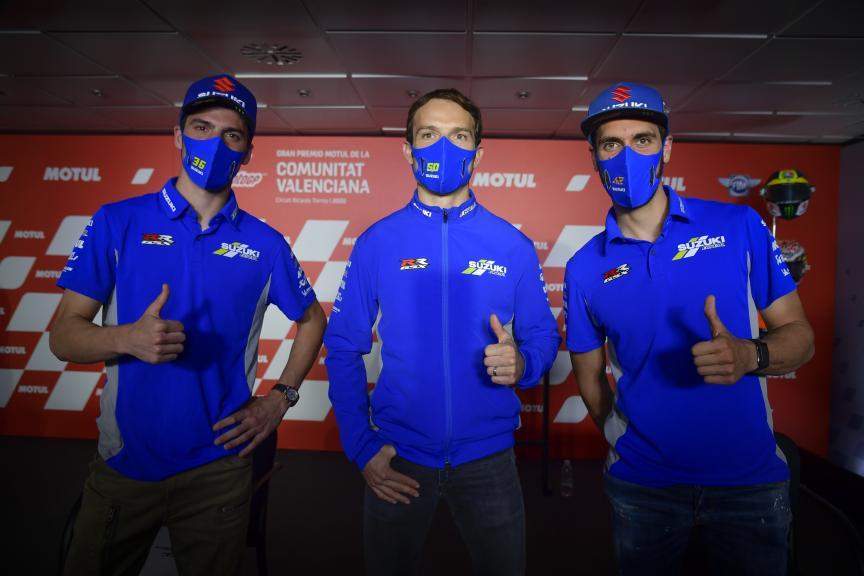 Joan Mir, Sylvain Guintoli, Alex Rins, Team Suzuki Ecstar, Gran Premio Motul de la Comunitat Valenciana