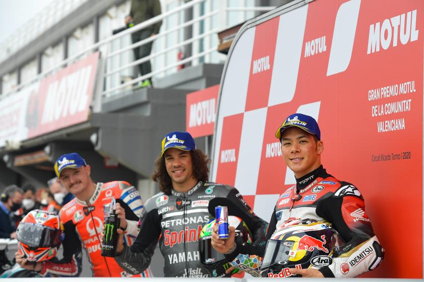 Franco Morbidelli, Jack Miller, Takaaki Nakagami, Gran Premio Motul de la Comunitat Valenciana
