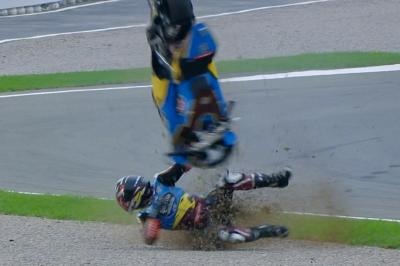 Moto2™ title contender Lowes suffers horrible crash in FP3