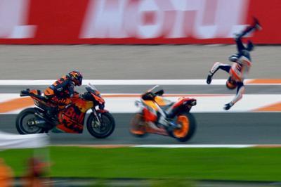 A. Márquez catapulté de sa Honda en Q1