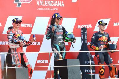 MotoGP™: Die Stimmen der Top 3 nach dem Rennen in Valencia