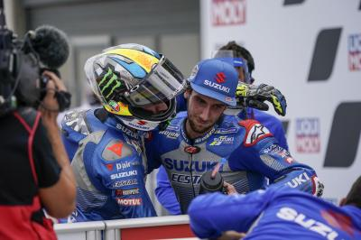 """I'm so happy for him and Suzuki"" - Rins thrilled for Mir"