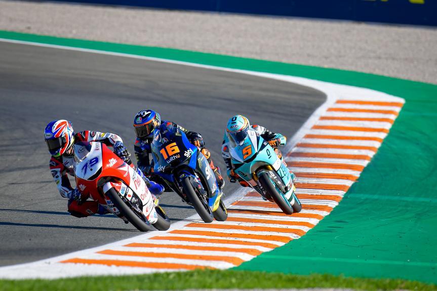 Ai Ogura, Andrea Migno, Jaume Masia, Gran Premio Motul de la Comunitat Valenciana
