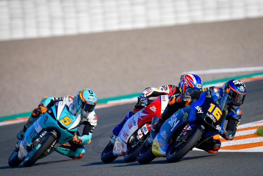 Andrea Migno, Ai Ogura, Jaume Masia, Gran Premio Motul de la Comunitat Valenciana