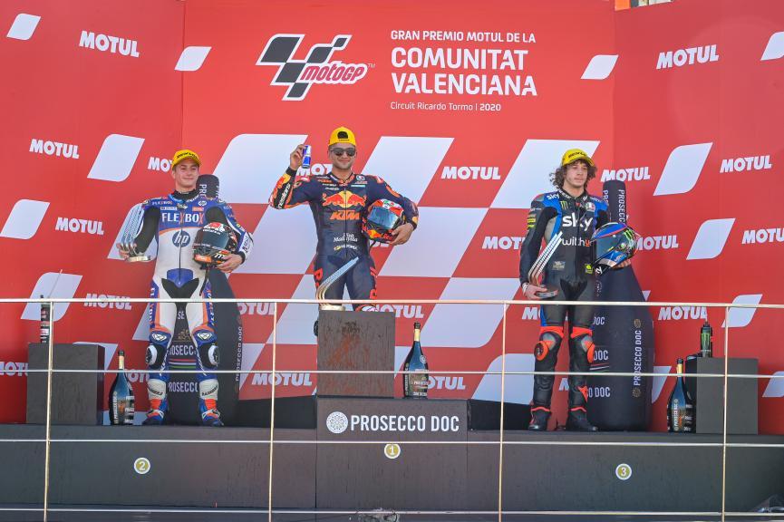 Hector Garzo, Marco Bezzecchi, Jorge Martin, Gran Premio Motul de la Comunitat Valenciana