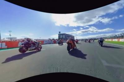 Start from the front row of a MotoGP™ race in 360 degrees