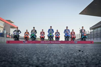 Photo shooting: I nove vincitori del MotoGP™ nel 2020
