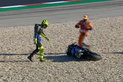 Una caduta rallenta il ritmo di Rossi a Portimão