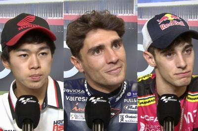 How do the Moto3™ contenders feel ahead of title-decider?