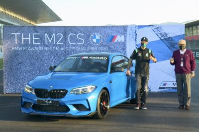 Quartararo takes his new BMW M2 for a spin around Portimao