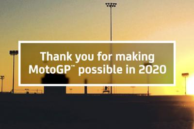 To the 10,000 people that made MotoGP™ possible in 2020