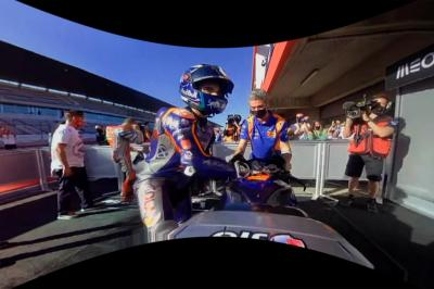 Enjoy Oliveira's victory celebrations in 360 degrees