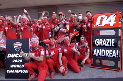 Dovizioso's Ducati farewell following the Portuguese GP