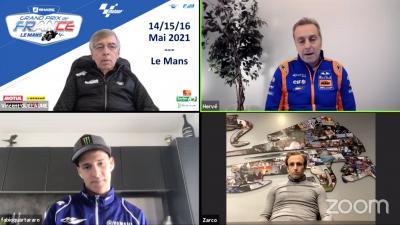 Quartararo, Zarco et Poncharal étaient réunis pour un Facebook Live