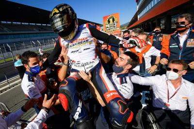 Managing pressure the key to Arenas' Moto3™ title win