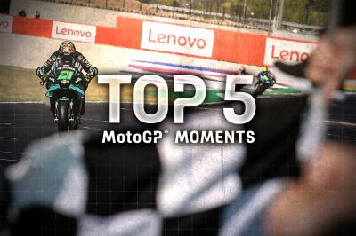 Top 5 MotoGP Moments from the #SanMarinoGP