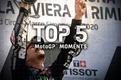 Die Top 5 MotoGP Momente vom #EmiliaRomagnaGP