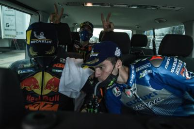 Unseen: Emilia Romagna GP podium finishers car conversation