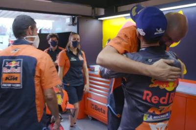 Unseen: Pol Espargaro's pitboard strategy change pays off
