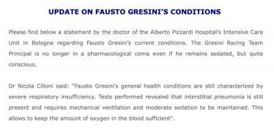 #GetWellSoonFausto #GresiniFamily #Update