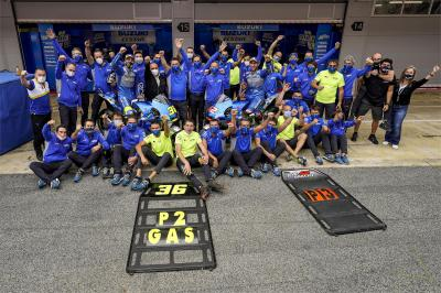 Unseen: How did Suzuki celebrate double podium success?