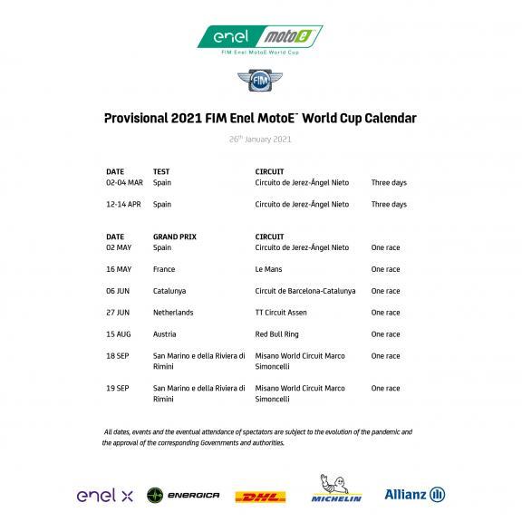 Provisional calendar_MotoE_2021