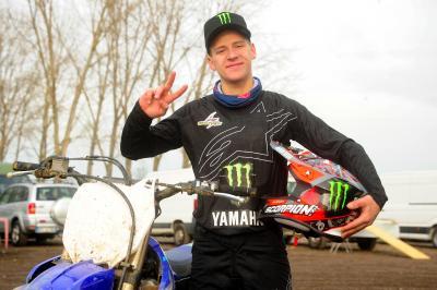Quartararo muestra su experiencia en motocross en Italia
