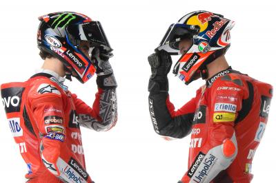 Ducati, de gala: Miller y Bagnaia lo apuestan todo al rojo