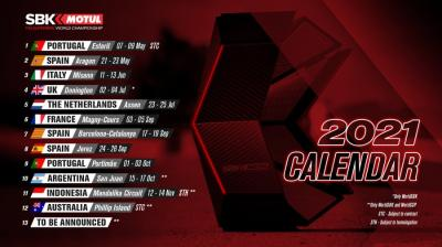#WorldSBK2021 updated calendar