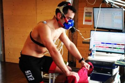 Petrucci visits the Red Bull Athlete Performance Centre
