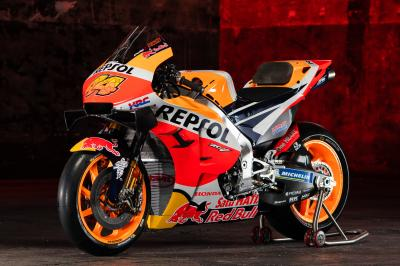 Le shooting en studio du Repsol Honda Team