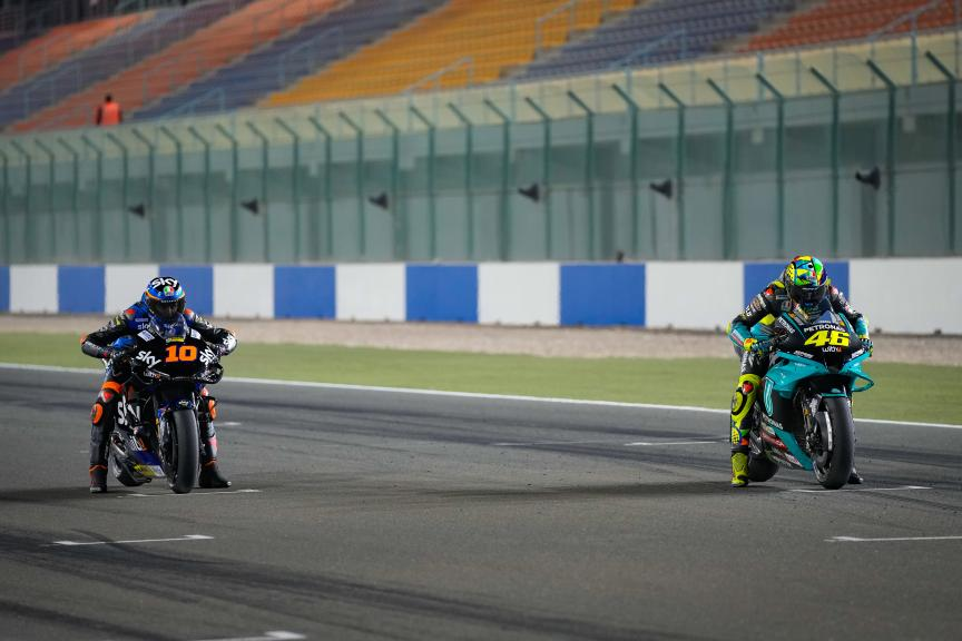Luca Marini, Valentino Rossi, Qatar MotoGP™ Official Test © shootersbike