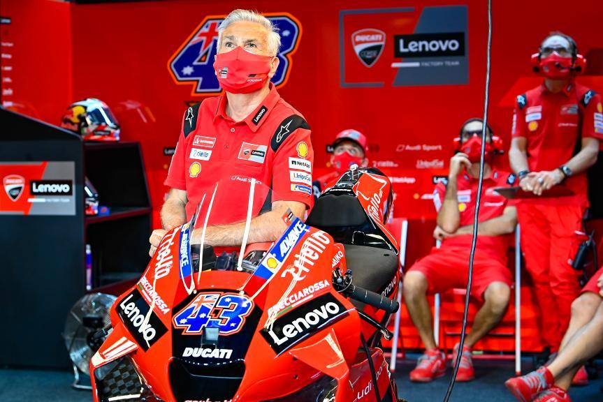 Davide Tardozzi, Lenovo Ducati Team, Qatar MotoGP™ Official Test
