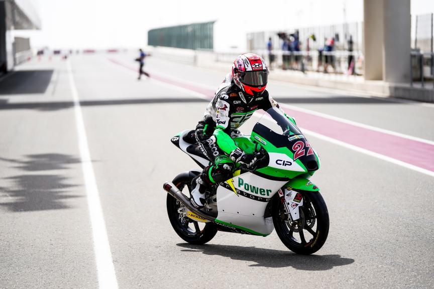 Kaito Toba, Cip Green Power, Qatar Moto3/Moto2 Official Test