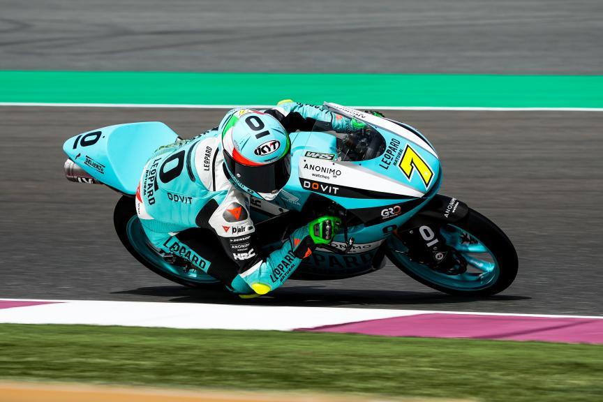 Dennis Foggia, Leopard Racing, Qatar Moto3/Moto2 Official Test