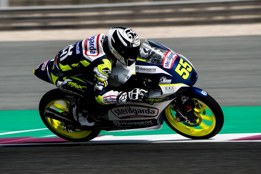 Romano Fenati, Sterilgarda Max Racing Team, Qatar Moto3/Moto2 Official Test