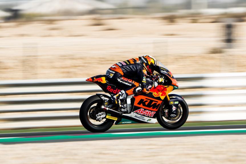 Raul Fernandez, Red Bull KTM Ajo, Qatar Moto3/Moto2 Official Test