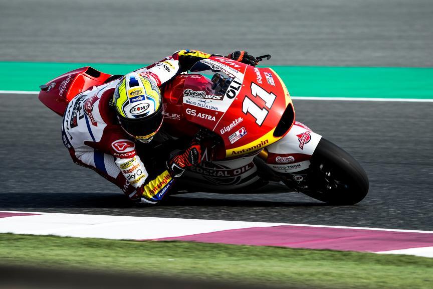 Nicolò Bulega, Federal Oil Gresini Moto2, Qatar Moto3/Moto2 Official Test