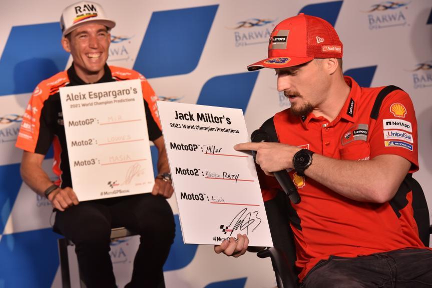 Miller, Aleix Espargaro, Press Conference, Barwa Grand Prix of Qatar, 2021