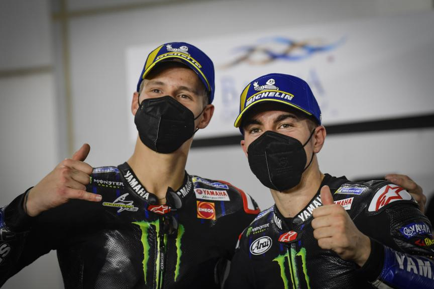Fabio Quartararo, Maverick Viñales, Monster Energy Yamaha MotoGP, Barwa Grand Prix of Qatar