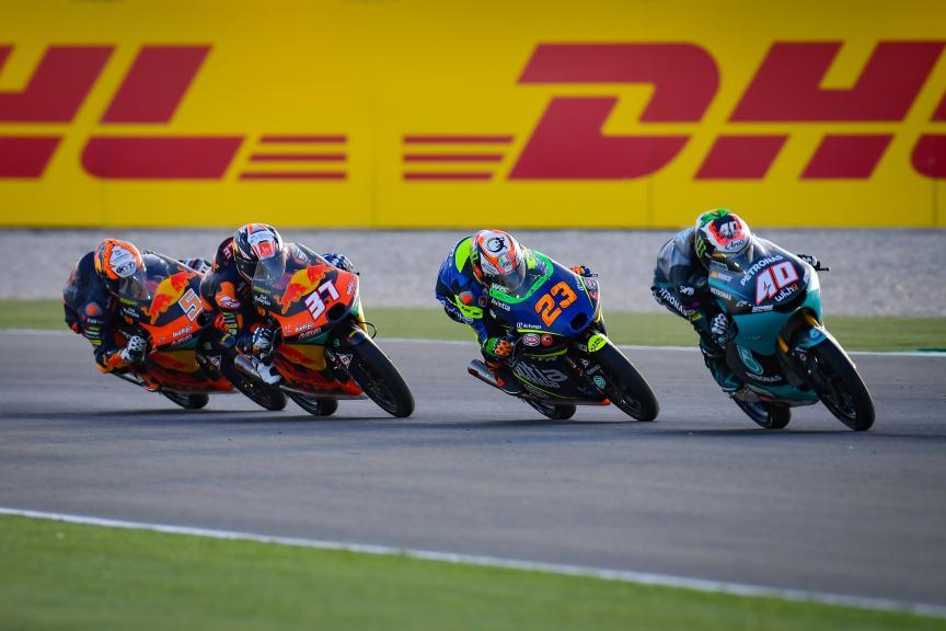 Darryn Binder, Niccolo Antonelli, Pedro Acosta, Barwa Grand Prix of Qatar
