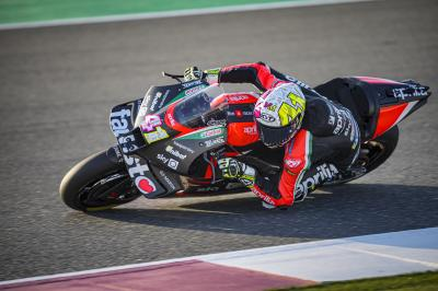 Aleix Espargaro fastest from Rins in Doha FP1