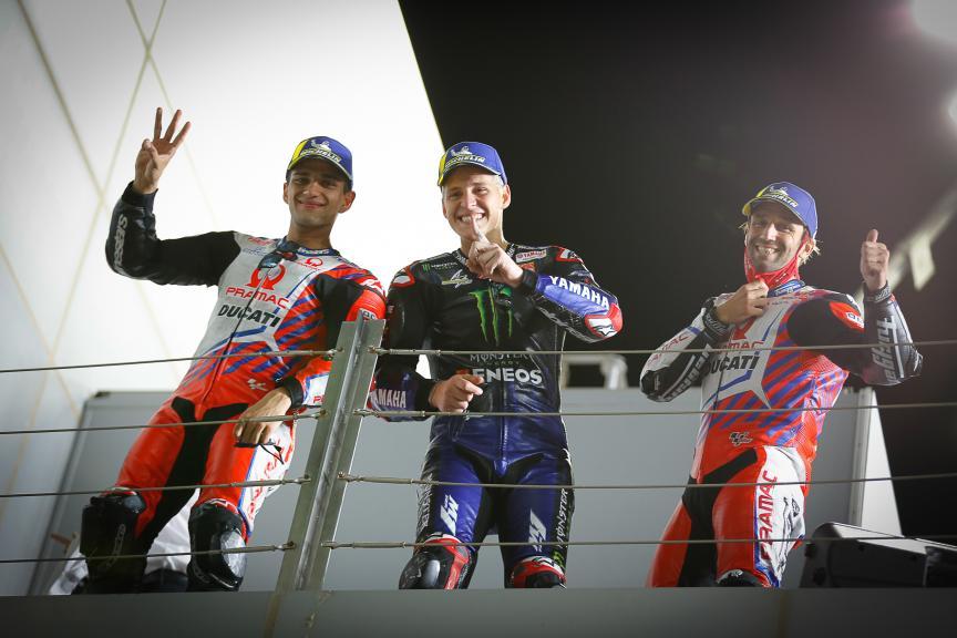 Johann Zarco, Fabio Quartararo, Jorge Martin, TISSOT Grand Prix of Doha