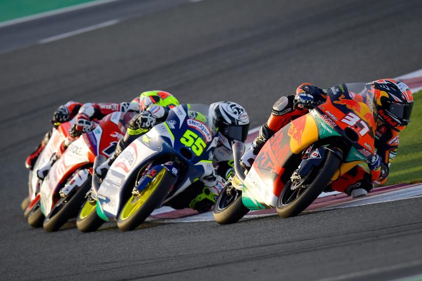 Pedro Acosta, Romano Fenati, TISSOT Grand Prix of Doha