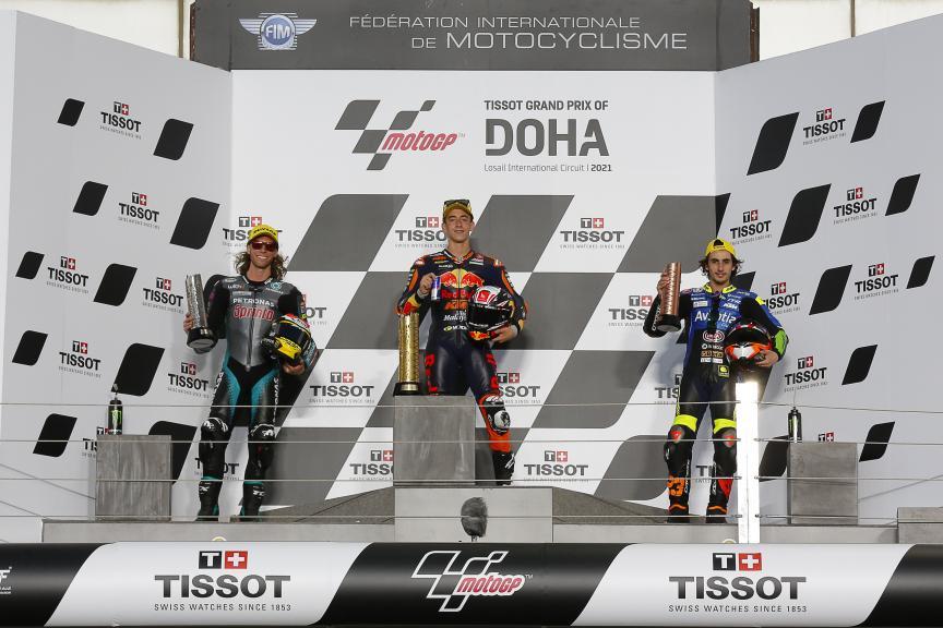 Pedro Acosta, Darryn Binder, Niccolo Antonelli,  TISSOT Grand Prix of Doha