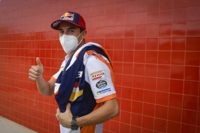 Marc Marquez supera l'esame medico a Portimao